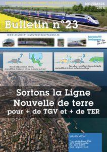 Bulletin n°23 – Sortons la ligne nouvelle de terre pour + de tgv et + de ter