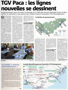 Var Matin: TGV PACA: Les lignes nouvelles se dessinent