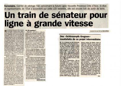 La Marseillaise: Un train de sénateur pour ligne à grande vitesse