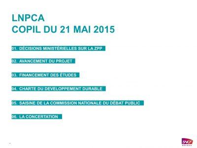 LNPCA Comité de Pilotage – 21 mai 2015