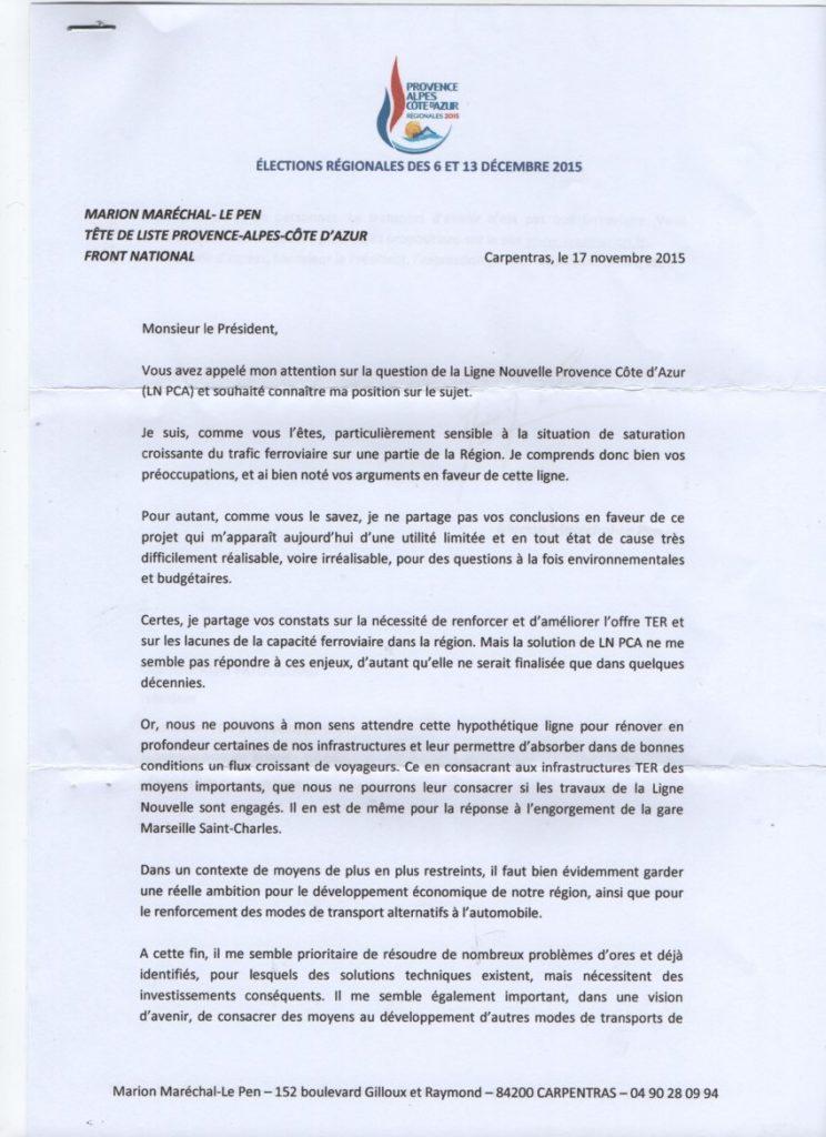 Réponse Le Pen page 1