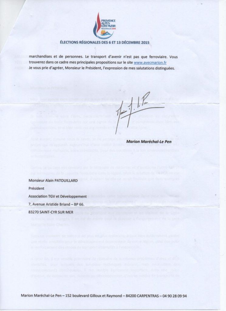 Réponse Le Pen page 2
