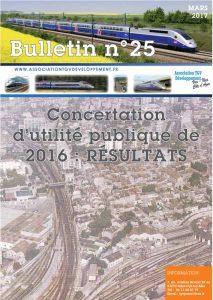 Bulletin N°25 – Concertation d'utilité publique de 2016 : RÉSULTATS
