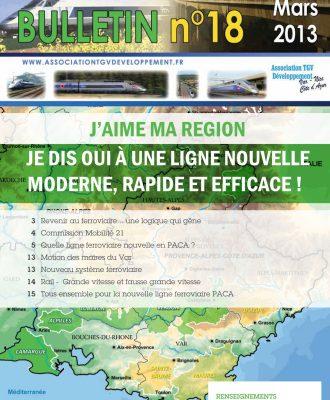 Bulletin n°18 – J'aime ma région je dis oui à une ligne nouvelle moderne, rapide et efficace !